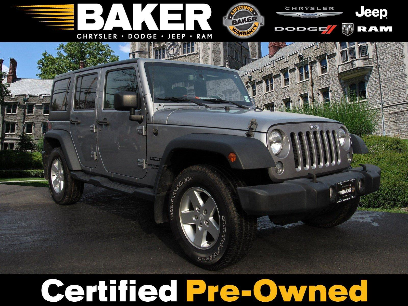 Used 2016 Jeep Wrangler Unlimited Sport for sale $26,495 at Victory Lotus in Princeton NJ 08540 1