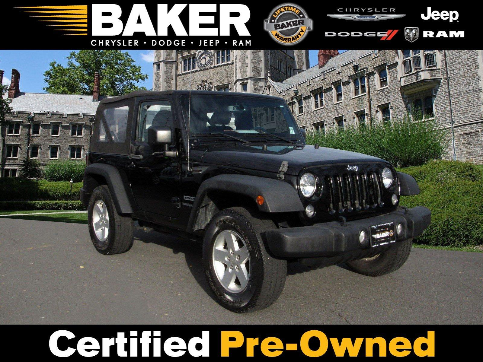 Used 2015 Jeep Wrangler Sport for sale Sold at Victory Lotus in Princeton NJ 08540 1