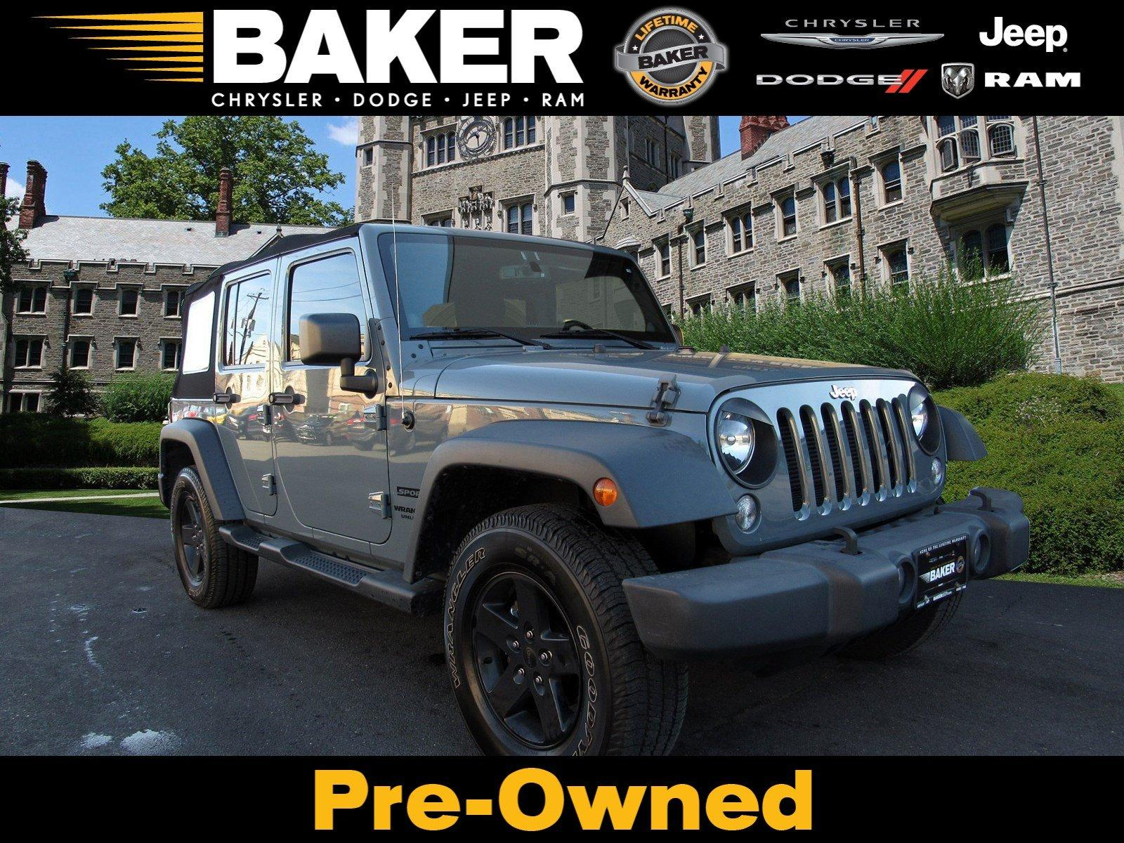 Used 2014 Jeep Wrangler Unlimited Sport for sale Sold at Victory Lotus in Princeton NJ 08540 1
