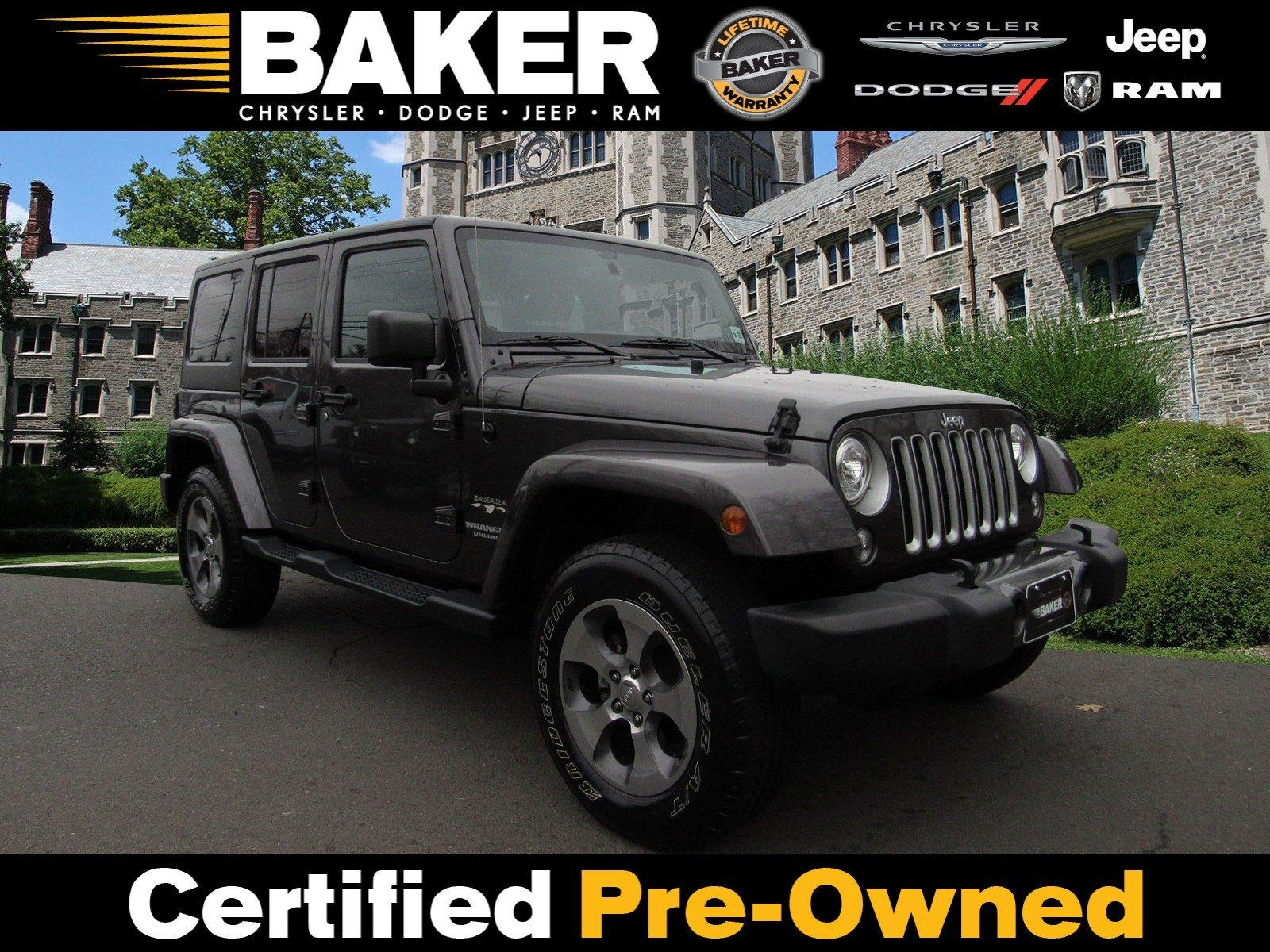 Used 2017 Jeep Wrangler Unlimited Sahara for sale Sold at Victory Lotus in Princeton NJ 08540 1