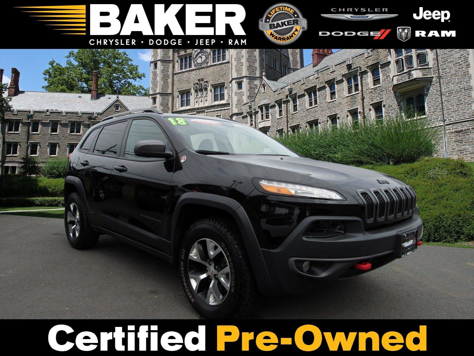 Used 2018 Jeep Cherokee Trailhawk for sale Sold at Victory Lotus in Princeton NJ 08540 1